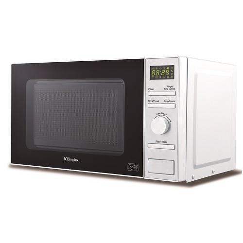 Powercity 980534 Dimplex 800 Watt White 20 Litre Microwave Stainless Steel Interior Microwave Oven